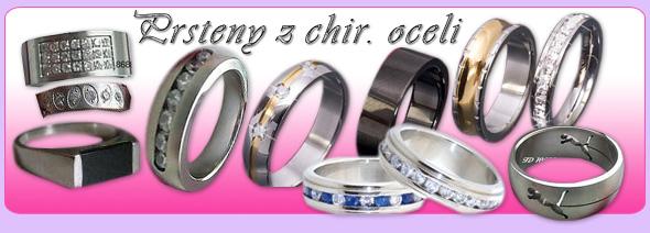 prsteny chirurgická ocel