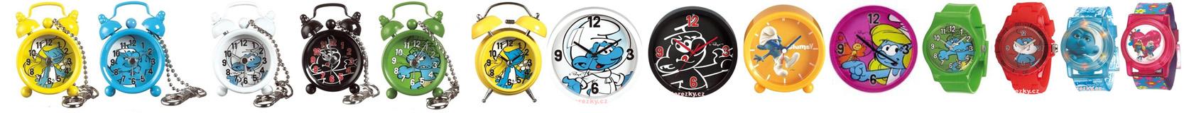 šmoulové hodiny